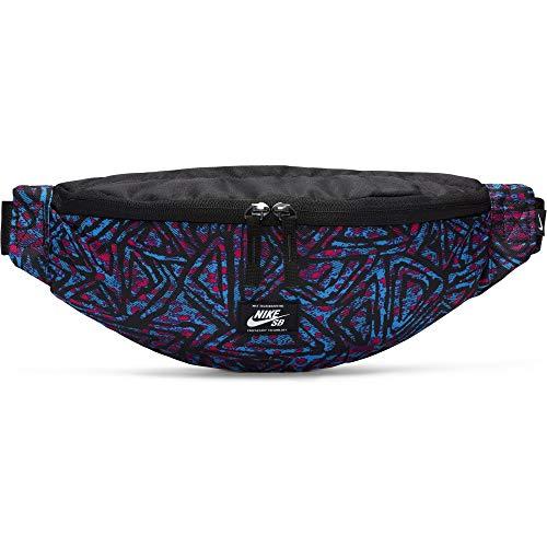 Nike SB Heritage heuptas unisex sporttas, zwart/laserblauw/wit, 1 maat