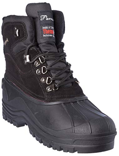 Hiverix - Botas de Invierno para Hombre, Suela de Piel aislada, Impermeables, Zapatos de Vestir, Negro (Negro), 43.5 EU