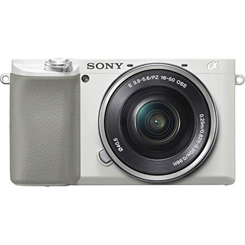 Sony Alpha A6100 Mirrorless Camera with 16-50mm Zoom Lens (White) (International Model)