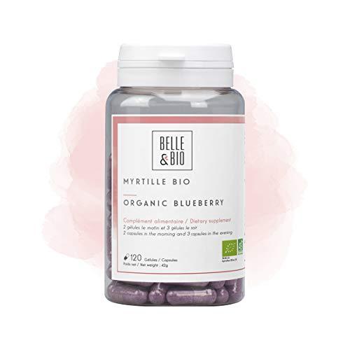 Belle&Bio - Myrtille Bio - 120 gelules - 150 mg / comprimé - Circulation - Certifié Bio par Ecocert - Fabriqué en France