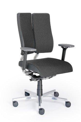 Rohde und Grahl Duo-Back Balance® Ergonomischer Bürodrehstuhl Bezug schwarz, mit Armlehnen
