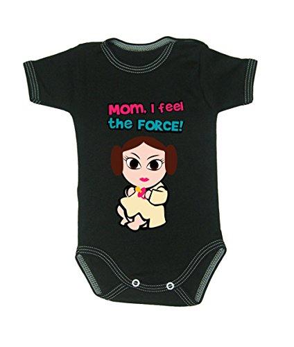 Couleur Mode bébé Leia bodies à manches courtes 100% coton Petit bébé – 24 mois – 0013 noir 18-24 months, 92 cm
