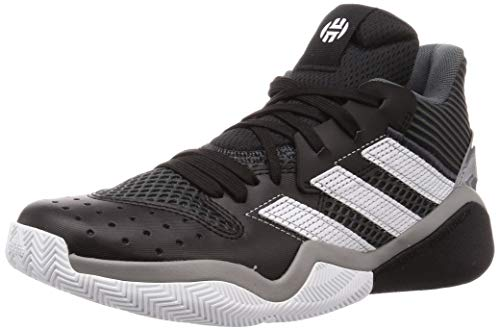 adidas Unisex-Erwachsene Harden Stepback Leichtathletik-Schuh, Kern Schwarz/Grau Sechs/FTWR Weiss, 44 EU