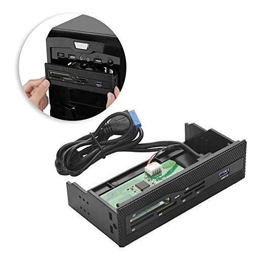 Lecteur de Carte Interne du Panneau Avant du PC, Hub Multifonctions USB 3.0 Lecteur de Carte Tout-en-Un Prise en Charge de Carte Interne Haute Vitesse M2 TF SD XD CF TF pour Ordinateur