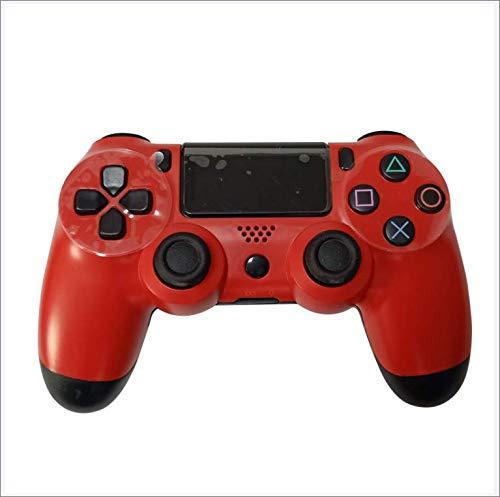 Controller di Gioco PS4, Joystick di Gamepad Wireless Bluetooth per Playstation 4, Doppio Motore di Vibrazione, Barra Luminosa a LED, Presa Antiscivolo Classica,Z10