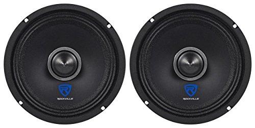 "(2) Rockville RXM64 6.5"" 300w 4 Ohm Mid-Range Drivers Car Speakers Mid-Bass"