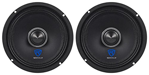 "(2) Rockville RXM64 6.5"" 300w 4 Ohm Mid-Range Drivers Car Speakers Mid-Bass"