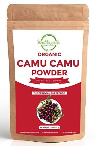 Organic Camu Camu Powder, 100% Pure, Freeze Dried, Non-GMO and Gluten-Free, Immunity Boosting and Vitamin C-Rich Superfood (7 oz.)