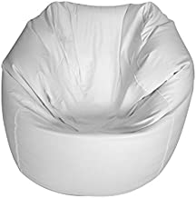 E-SeaRider Round Marine Beanbag, White/White, Medium