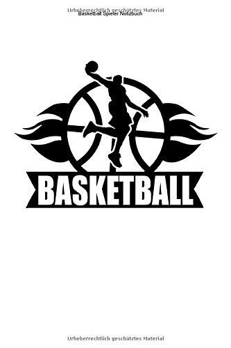 Basketball Spieler Notizbuch: 100 Seiten | Liniert | Basket Team Ball Fan Mannschaft Geschenk Wurf Training Korb Trainer Spiel Netz
