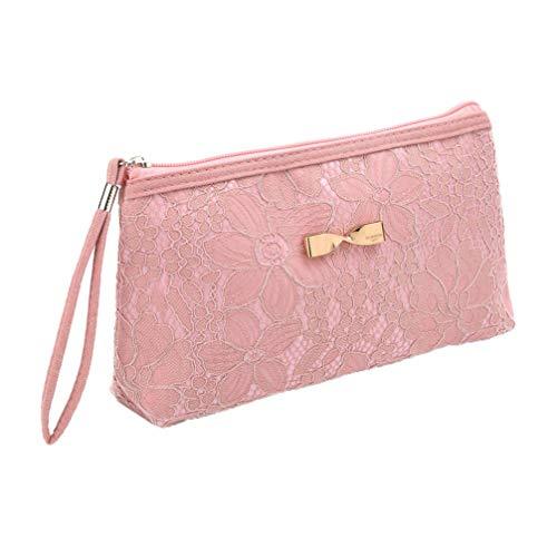 Minkissy trousse à maquillage voyage sacs à cosmétiques pochette pochette mignon dessin animé femmes organisateur de bijoux sac à main portable (couleur aléatoire)