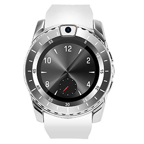 CSJD Smartwatch, smartphone-kaart, pluggable en geheugenkaart, bewaking van de slaap, calorieën, stappenteller, outdoor, waterdicht, bluetooth, Android/iOS, wit