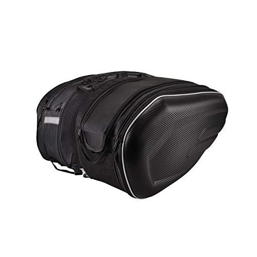 WILDKEN Motorrad Satteltasche 1680D Oxford Werkzeugtasche 36L-58L Große Kapazität Kohlefaser PVC Fall Gepäckrolle wit Regenschutz Aufbewahrung für Harley Davidson 1 Paar