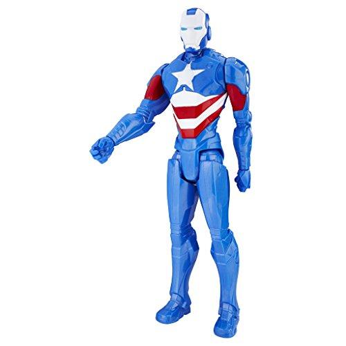 Avengers - Iron Patriot Titan Hero (Personaggio 30cm, Action Figure), C1493ES0