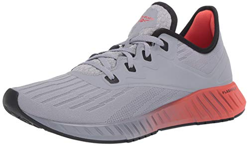 Reebok Men's FLASHFILM 2.0 Running Shoe, Cool Shadow/Black/Vivid Orange, 10 M US