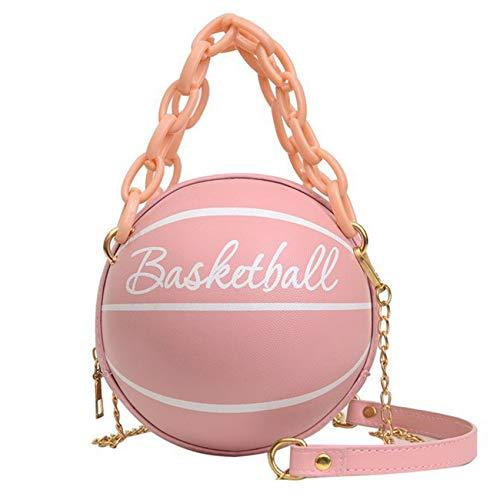 Minshang - Bolso de mano con forma de baloncesto para mujer, Pink (Rosa) - Minshang