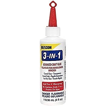 Beacon 3-in-1 Advanced Crafting Glue, 4-Ounce, 1-Pack