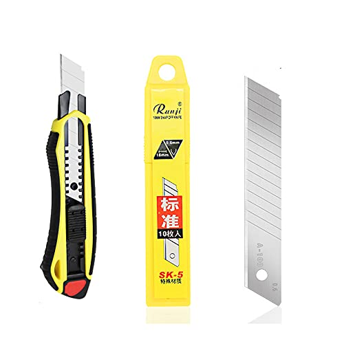 Cuchillo utilitario empapelado cuchillo cuchilla de bolsillo estudiante portátil todo metal aleación de titanio cuchillo titular de corte de papel pegatinas (Mango de goma)
