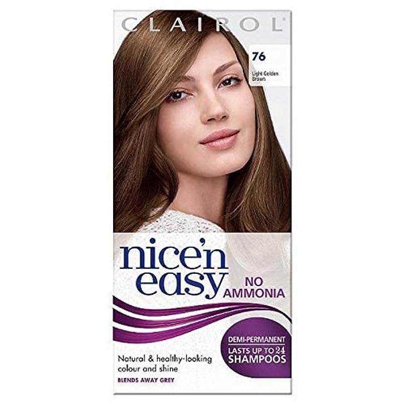 手のひらバンガロー祝う[Nice'n Easy] Nice'N簡単に無アンモニア染毛剤76ライトゴールデンブラウン - Nice'n Easy No Ammonia Hair Dye Light Golden Brown 76 [並行輸入品]