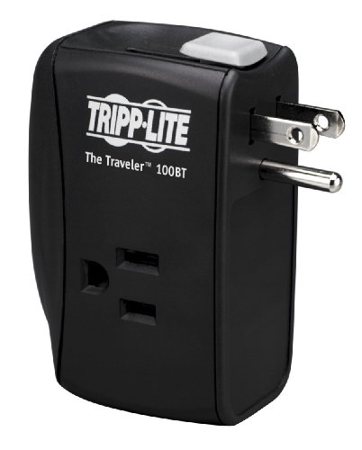 Tripp Lite 2 Outlet Portable Surge Protector Power Strip, Direct Plug in, Tel/Ethernet Protection,...