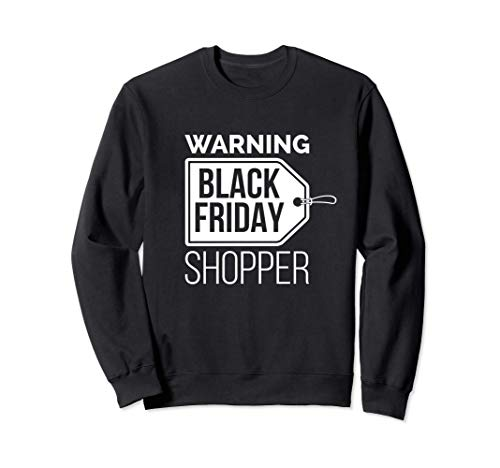 Natale Black Friday Shopper Day del Ringraziamento Shopping Felpa