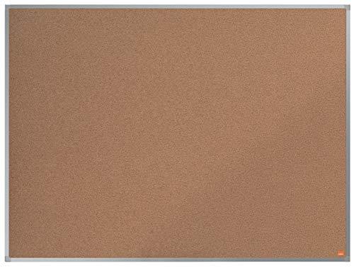 Nobo Pannello in Sughero, 1200 x 900 mm, Cornice in Alluminio, Sistema di Montaggio ad Angolo, Gamma Essence, Ocra, 1903961