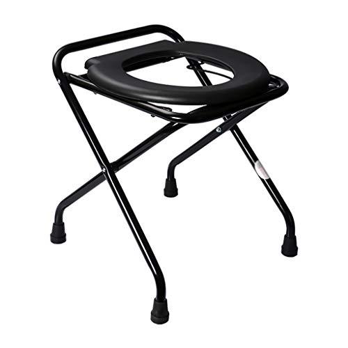 HSRG Klappbarer tragbarer Toilettensitz mit Kommode - Porta Töpfchen und Kommodenstuhl - Komfortstuhl Perfekt für Camping, Wandern, Ausflüge, Baustellen