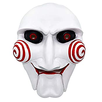 Saw Jigsaw Billy Puppet Mask Creepy Resin Scary Horror Movie Mask Halloween Cosplay Costume Props