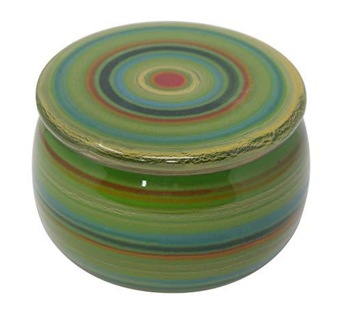 Original Französische Wassergekühlte Keramik Butterdose, Immer Frisch Und Streichfähige Butter, ca 250 g Butter, Primavera Bunt B-G