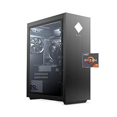 OMEN 25L by HP Gaming Desktop Computer, AMD Ryzen7 3700X, AMD Radeon RX 5700 Graphics, HyperX 16GB RAM, 1TB Hard Drive, 512GB SSD, Windows 10 Home (GT12-0050, Shadow Black)