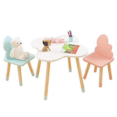 Children's Study Table and Chairs Kindergarten Cartoon Cloud small Table Writing Toy Game Table and Chair Set