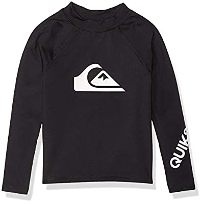 Quiksilver Boys' Little Time Long Sleeve Rashguard Surf Shirt, Black, 6