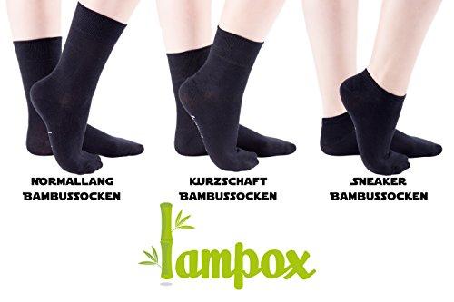 lampox Bambussocken (6x Paar) Atmungsaktiv Socken Business Sport Laufen Reduziert Schweiß (43-46, Schwarz) - 7