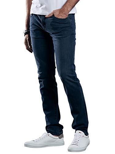 emilio adani Herren Modische Blue Jeans in authentischer Waschung, 29275, Blau in Größe 33/32