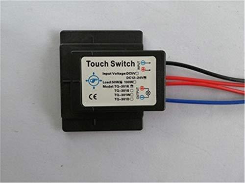 DC On/OFF Baño Espejo Interruptor táctil aislados por LED Fuente de luz 6-12V de la lámpara