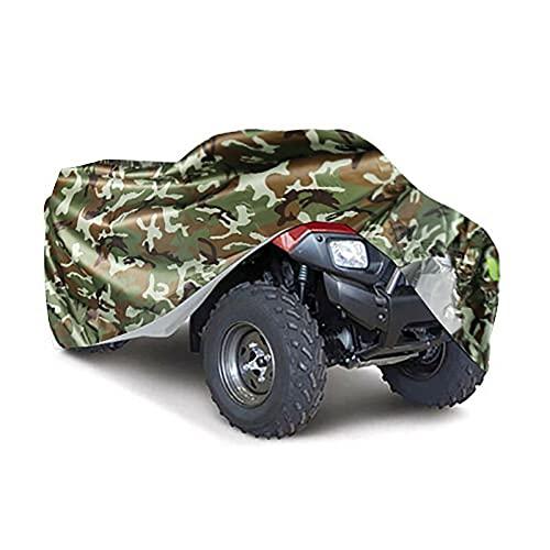 Marekyhm-es Cubierta cuádruple de Bicicleta Universal Impermeable Scooter de Motocicleta Kart Cubiertas de Motocicleta M L XL XXL XXXL Camuflaje de Plata (Color : Camouflage, Size : M 145x85x98cm)