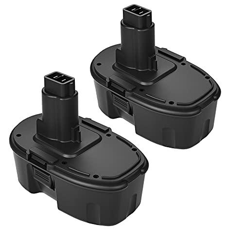 Powayup 2 × 18V 3.0Ah Batería de Reemplazo para Dewalt DC9096 DE9039 DE9095 DE9096 DE9503 DW9095 DW9096 DW9098
