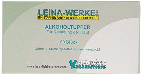 LEINAWERKE 44055 alcoholdoekje, verpakking van 100 stuks
