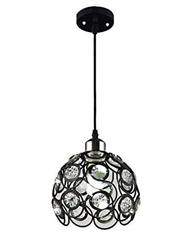 TRADE® Métal Creux Suspendu Lumières Un E27 Ampoule Socket Moderne Décoration Plafonnier Lampes Restaurant Corridor