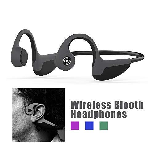 Z8 Bluetooth 5.0 Casque Conduction osseuse Bluetooth sans Fil Oreillette Bluetooth Sport Casque Stéréo Sweatproof avec Micro pour Sports comme Course à pied Vélo fitness compatible avec iOS Android