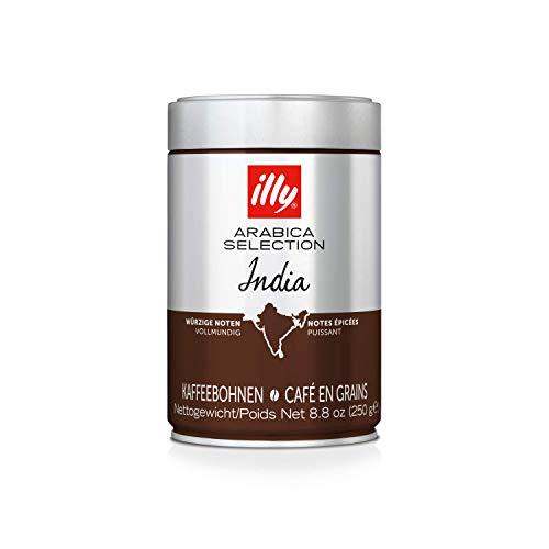 illy Espresso illy Kaffee, Espressobohnen der Arabica Selection aus Indien - Verpackung mit 1 Dosen 250 g