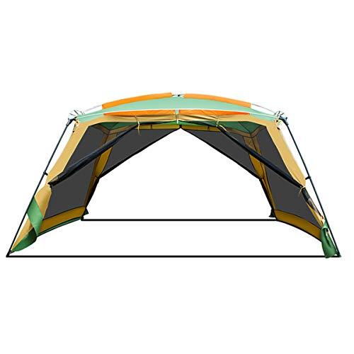 WSSZZ319 Tente Extérieure Pergola Camping 8-10 Personnes Barbecue Auvent Portable Pliable Plage Canopy365 * 365 * 245CM