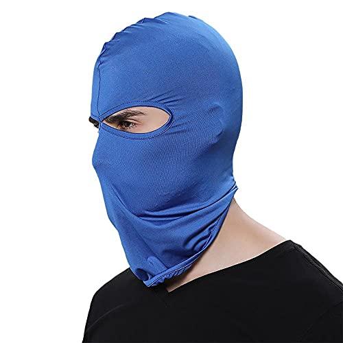 Damaifirstes Headgear - Máscara de ciclismo para hombre, protector solar, capucha delgada para motocicleta, cortavientos y frío, forro de casco a prueba de polvo, 2 unidades, azul Bao B_23 x 40 cm
