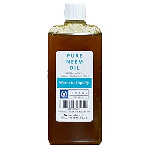 OURONS - Aceite de neem 100 ml, 100% virgen puro nim, aceite multiusos para plantas Hogar y jardín