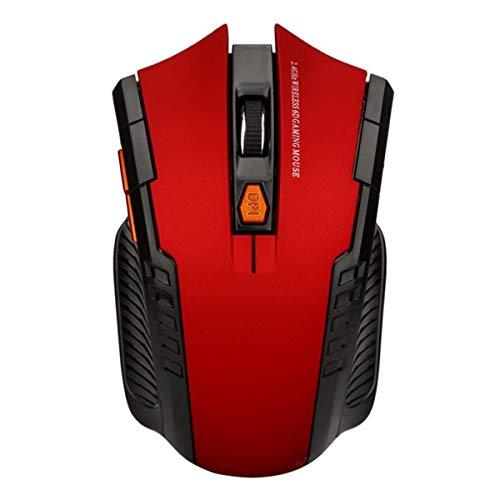 マウス、プロフェッショナルワイヤレスゲーミングマウスオプティカルUsbコンピューターマウスゲーマーマウスゲームマウスサイレントマウスfor Pc(Red)