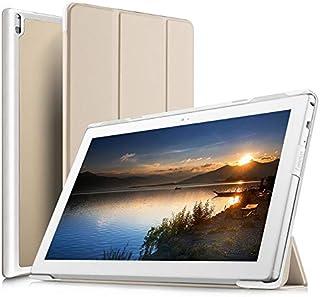 IVSO Lenovo Tab 4 Plus TB-X704L Case, Slim Smart Cover Case for Lenovo Tab 4 10 PLUS 10.1 inch Tablet, Gold