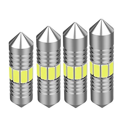 CHENTAOCS Festoon 31 mm 36 mm 39 mm 41 mm super brillante bombilla LED C5W C10W luz de matrícula de coche auto interior lámpara domo lectura (color: 41 mm blanco)