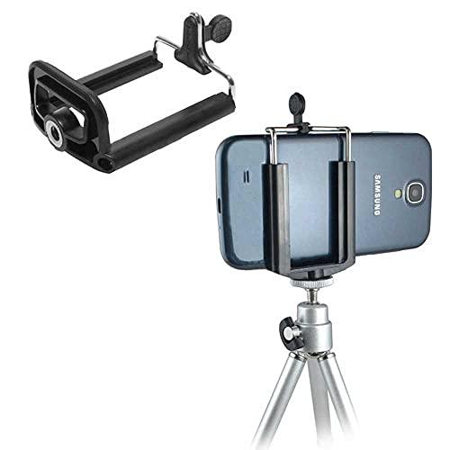 OcioDual Soporte 1/4 Movil Camara Universal Extensible para Tripode Adaptador Monopod Adapter Negro para Samsung Xiaomi Huawei