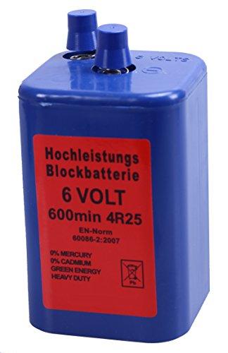 Blockbatterie Blau IEC 4R25 6V 7Ah Quecksilberfrei Batterie Hochleistungsbatterie