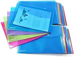 Rapesco 1494 Dokumentmapp A4, 20 Stycken (Olika Färger), Transparent